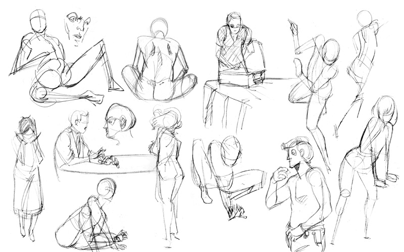 Contour Line Drawing Body : Elements of gesture makingcomics
